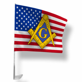 Mason / Freemasons USA Car Flag