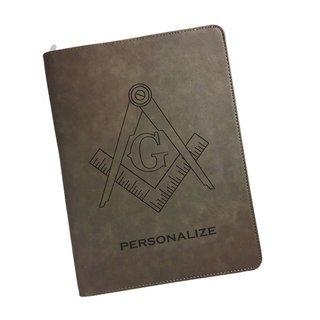 Mason / Freemasons Zipper Leatherette Portfolio with Notepad