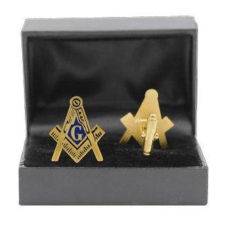 "Mason Shield Cuff Links W/Box - 1"""