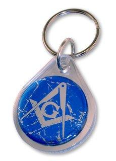 Mason / Freemason Domed Keychain