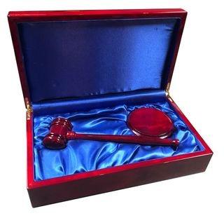 Masonic Engraved Gavel Set