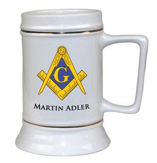 Mason / Freemason Ceramic Personalized Stein