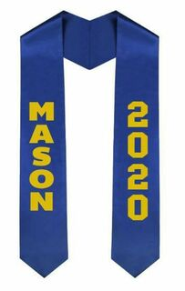 Masonic Greek Lettered Graduation Sash Stole With Year - Best Value