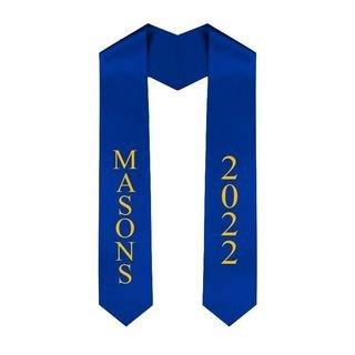 Masonic Greek Lettered Graduation Sash Stole With Year - Best Value