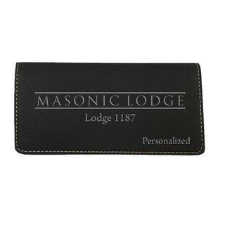 Masonic Leatherette Checkbook Cover