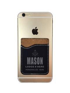 Masonic Leatherette Phone Wallet