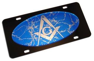 Mason / Freemason Marble License Plate
