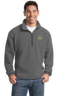 Mason / Freemason Emblem 1/4 Zip Pullover