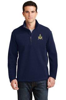 DISCOUNT-Mason / Freemason Emblem 1/4 Zip Pullover