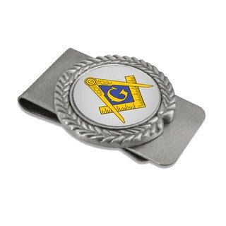 Mason / Freemason Pewter Money Clip