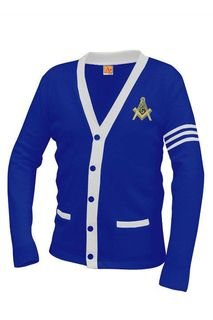 Masonic Varsity Cardigan Sweater