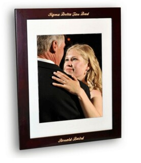 Mom Or Dad Rosewood Picture Frame