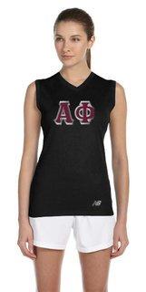 New Balance Sorority Athletic V-Neck Workout T-Shirt