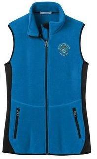 New Sorority Crest Patch Ladies Pro Fleece Full-Zip Vest
