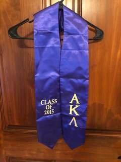 New Super Savings - Alpha Kappa Lambda Embroidered Graduation Sash Stole - PURPLE