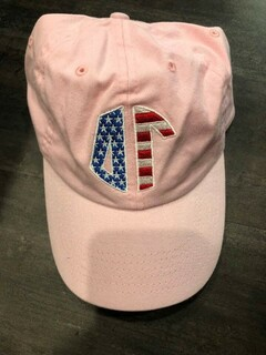 New Super Savings - Delta Gamma Flag Letter Hat - LIGHT PINK
