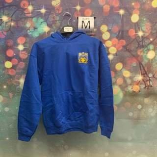 New Super Savings - Delta Upsilon Crest - Shield Emblem Hooded Sweatshirt - BLUE