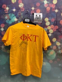 New Super Savings - Phi Kappa Tau Greek Crest - Shield T-shirt - GOLD