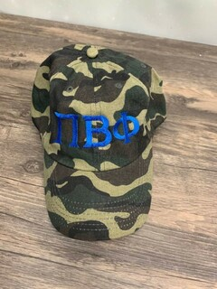 New Super Savings - Pi Beta Phi Lettered Camouflage Hat - CAMO