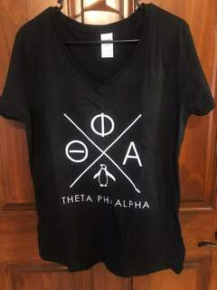New Super Savings - Theta Phi Alpha V-Neck - BLACK