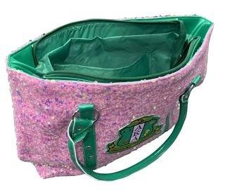 Alpha Kappa Alpha Pink Sequin Tote Bag