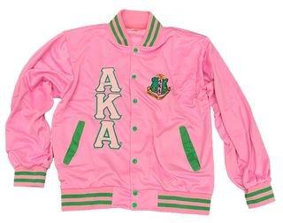 Alpha Kappa Alpha Pink Beauty Letterman Jacket