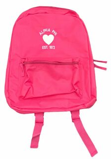 Alpha Phi Heart Backpack - Closeout