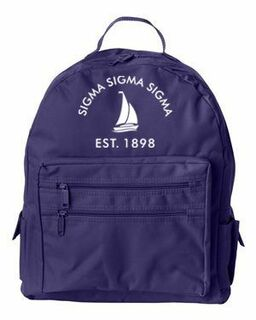 DISCOUNT-Sigma Sigma Sigma Mascot Backpack