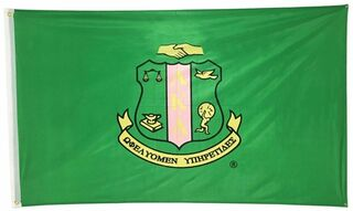 Alpha Kappa Alpha Green 3x5 Flag � Officially Approved - Green