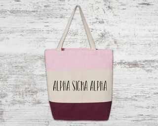 Alpha Sigma Alpha Tri Color Tote Bag