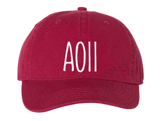 AOII Mod Comfort Colors Pigment Dyed Baseball Cap