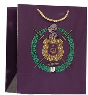 Omega Psi Phi Paper Gift Bag