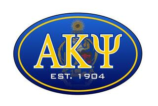 Alpha Kappa Psi Color Oval Decal