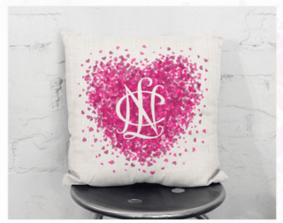 National Charity League Conference Heart Pillow