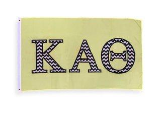 Kappa Alpha Theta Big Greek Chevron Letter Flag