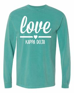 Comfort Colors Love Long Sleeve T-Shirt