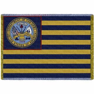 Army Flag USA Vintage Woven Throw Blanket Gift For Veteran Soldier