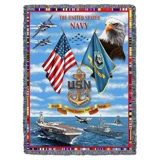 US Navy Gift Blanket Heirloom Woven Throw