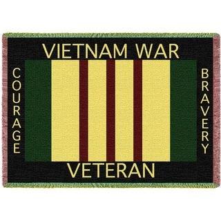 Vietnam Veterans Memorial Woven Throw Blanket Gift For Veteran Soldiers