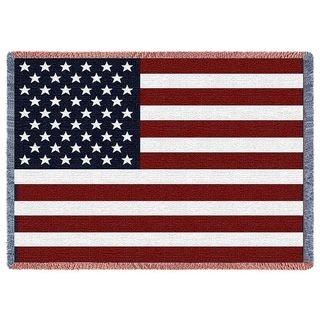 American Flag Large Woven Throw Blanket