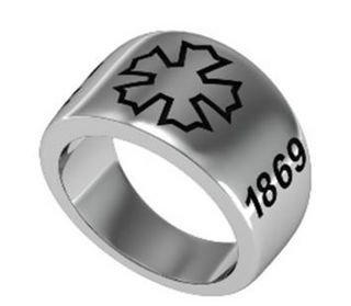 Sigma Nu Silver Ring