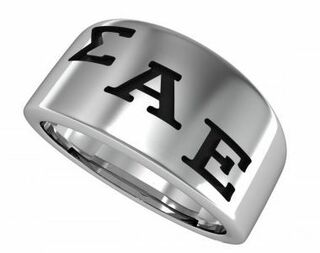 Sigma Alpha Epsilon Brotherhood Silver Ring