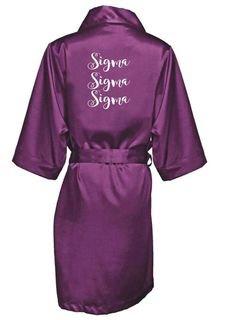 Sigma Sigma Sigma Satin Robe - Limited Quantity