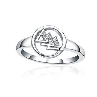 Delta Delta Delta Circular Silver Ring