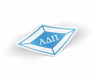 Alpha Delta Pi Die Cut Diamond Sticker