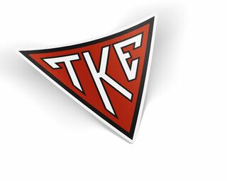 TKE Triangle Decal Sticker