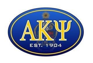 Alpha Kappa Psi Color Oval Decal