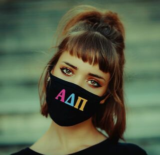 Alpha Delta Pi Rainbow Face Mask
