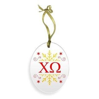 Sorority Holiday Color Snowflake Christmas Ornament