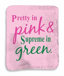Pretty In Pink - Supreme In Green Sherpa Blanket